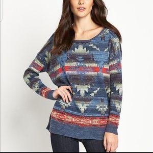 Denim & Supply Aztec pullover knit sweater size M